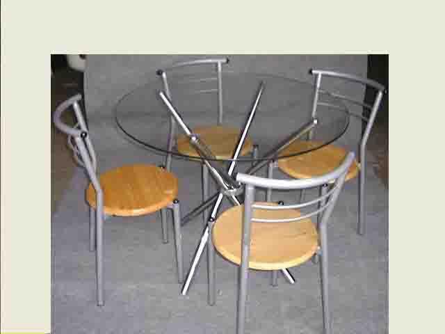 休閒玻璃圓桌椅